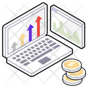 Financial Graph Cash Analysis Business Analytics Icon