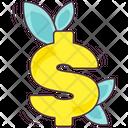 Business Growth Dollar Plant Finance Advancement Icon