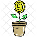 Business Growth Money Plant Money Growth Icon