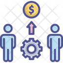 Business Growth Effort Collaboration Partner Icon
