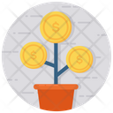 Money Plant Money Growth Business Growth Icon
