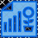 File Graph Growth Graph Icon