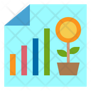 File Graph Growth Graph Icon
