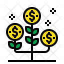 Growth Up Money Icon
