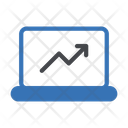 Growth Graph Laptop Icon