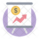 Business Growth Presentation Icon