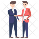 Business Handshake Character Icon