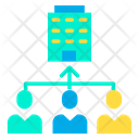 Business Management Hierarchy Icon