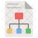 Business Document Business Hierarchy Business Plan Icon