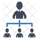 Business Hierarchy Structure Icon