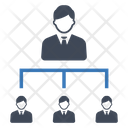 Business Hierarchy Management Icon