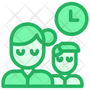Working Hour Employee Clock Icon