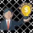 Business Idea Financial Idea Creative Businessman Icon
