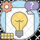 Business Idea Idea Generation Idea Development Icon