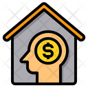 Business Working At Home Head Icon