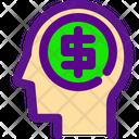 Brain Banking Economy Icon