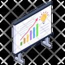 Business Presentation Data Presentation Business Idea Icon