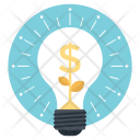 Dollar Bulb Business Icon