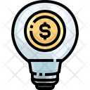 Light Bulbs Business Idea Finance Idea Icon