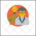 Creative Businessman Marketing Idea Creative Person Icon