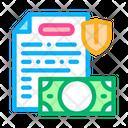 Money Banknote Insurance Icon