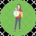 Businesswoman Investor Business Icon