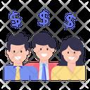 Business Backers Business Investors Financiers Icon