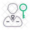 Key Lock User Icon