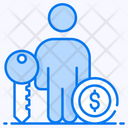 Business Key Key Person Vip Person Icon
