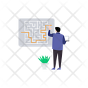 Business Labyrinth Icon