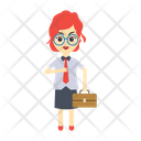 Business lady Icon