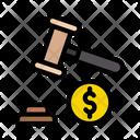 Auction Law Dollar Icon