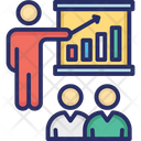Business Lecture Finance Presentation Business Chart Icon
