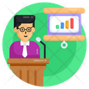 Business Presentation Business Class Business Lecture Icon