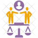 Business Legal Judgment Law Justice Icon