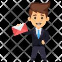 Letter Holding Communication Icon