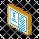 Business Literature Isometric Icon