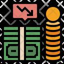 Business Loss Loss Decrease Icon
