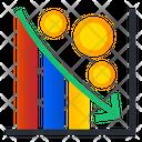 Business Loss Loss Decrease Graph Icon