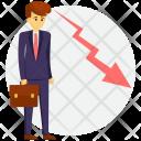 Entrepreneur Failed Unsuccessful Icon