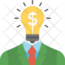 Creative Businessman Bulb Icon