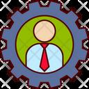 Business Man Gear Icon