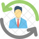 Business Management Employee Training Employee Turnover Icon