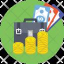 Business Portfolio Dollars Icon