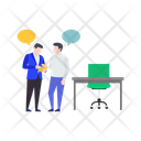 Business Meeting Business Instruction Business Discussion Icon