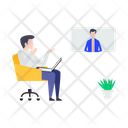 Business Meeting Teleconference Video Call Icon