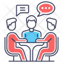Business Meeting Discussion Collaboration Icon