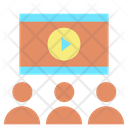 Business Meetingm Business Meeting Video Conference Icon
