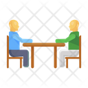 Business Meeting Business Conversation Business Talk Icon