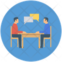 Business Meeting Business Conversation Communication Icon